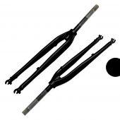 """Voorvork Gazelle vast 1"""" 211mm rollerbrake 001 mat zwart oa Esprit"""