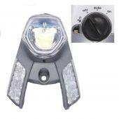 Koplamp Gazelle In-Sight batterij Aan/Uit/Auto voor verende voorvork