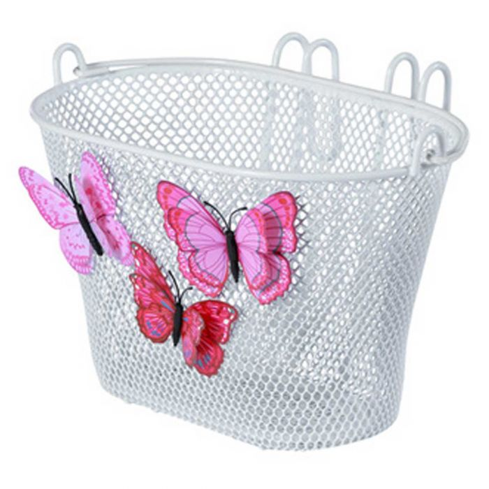 Stuurmand kind Basil Jasmin Butterfly Basket met haken wit