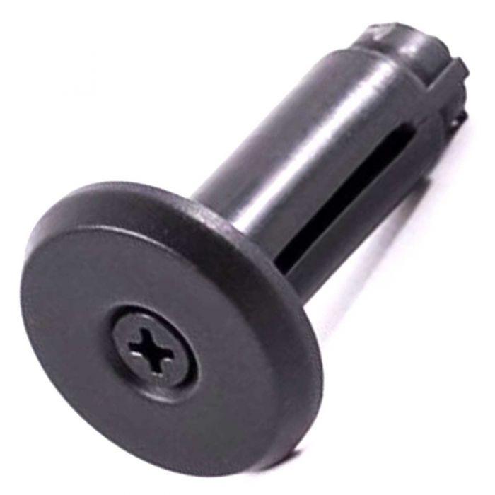 Handvat einddop Batavus 14mm met schroef VLP-14 zwart
