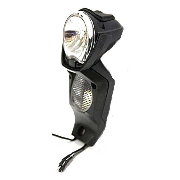 Koplamp Gazelle Light Vision LED naafdynamo met ACHTERLICHTVOEDING