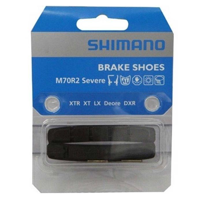Remrubbers Shimano M70R2 v-brakes cartridge 2 stuks